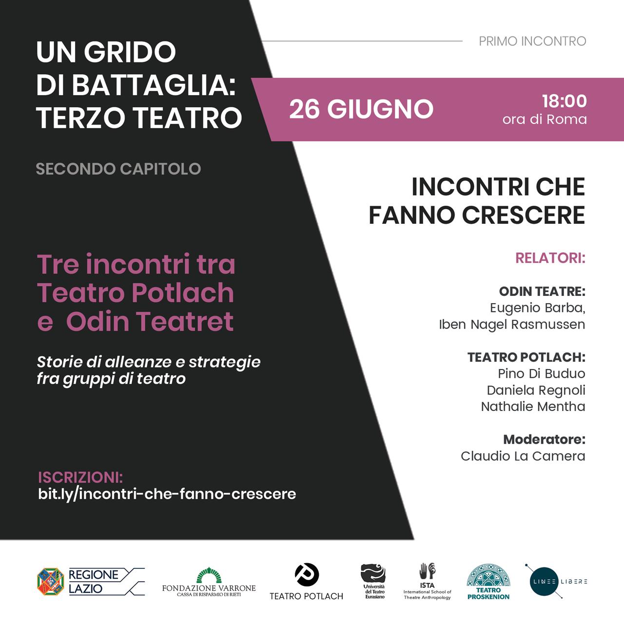 Iben Nagel Rasmussen live streaming with Teatro Potlach